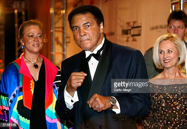 Former heavyweight champion of the world Muhammad Ali and wife Lonnie Ali arrives at 'Celebrity Fight Night X' a charity event to raise money for the...