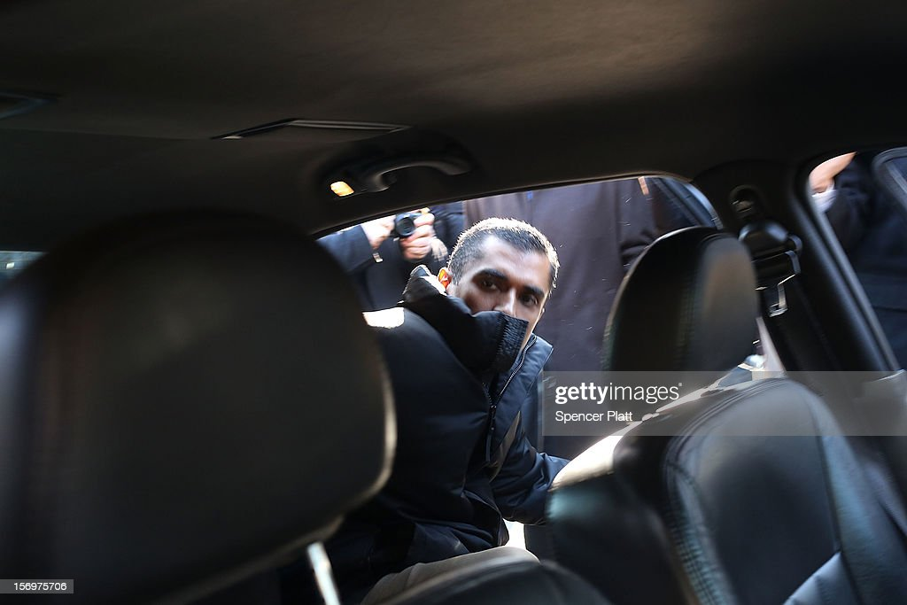 Former hedge fund portfolio manager Mathew Martoma enters a car after appearing in a New York federal court after being charged in one of the biggest insider trading cases in history on November 26, 2012 in New York City. Martoma, who was arrested at his home in Boca Raton, Florida, worked for CR Intrinsic Investors LLC between 2006 and 2008. He was released on $5 million bail after being charged with using insider information to make more than $276 million for his fund and others.