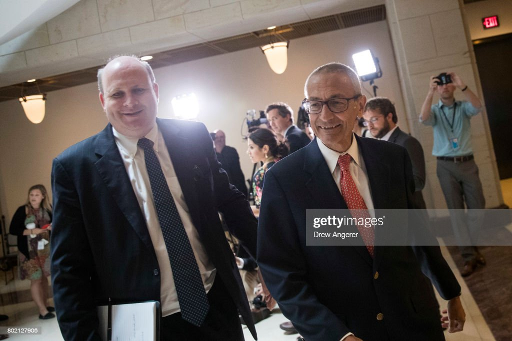 Former Hillary Clinton Campaign Chairman John Podesta Meets With House Intelligence Committee
