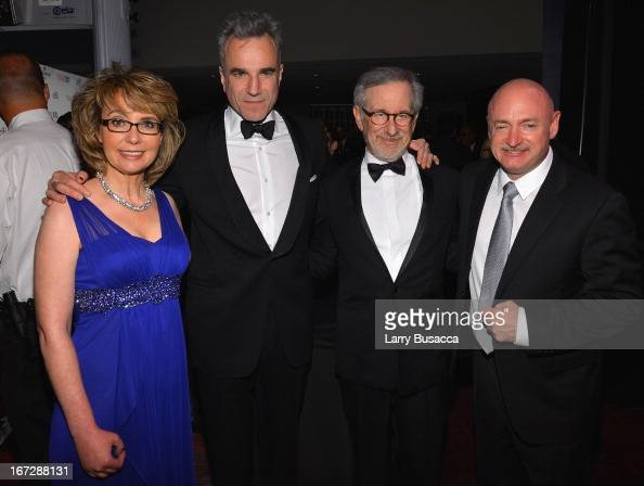 Former House representative Gabrielle Giffords actor Daniel DayLewis filmmaker Steven Spielberg and former astronaut Mark Kelly attend the TIME 100...