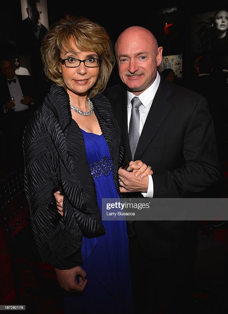 Former House representative Gabrielle Giffords and former astronaut Mark Kelly attend the TIME 100 Gala, TIME'S 100 Most Influential People In The World reception at Jazz at Lincoln Center on April 23, 2013 in New York City.