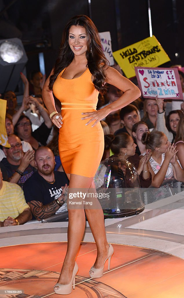 Former housemate Hazel O'Sullivan attends the Big Brother final at Elstree Studios on August 19, 2013 in Borehamwood, England.