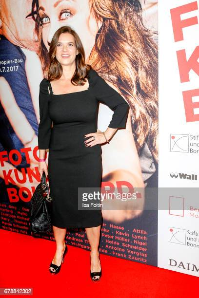 Former ice scater Katarina Witt attends the 'FotoKunstBoulevard' opening at MartinGropiusBau on May 4 2017 in Berlin Germany