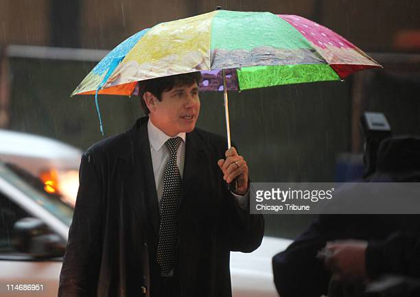 Former Illinois Gov Rod Blagojevich arrives at the Dirksen US Courthouse in Chicago Illinois for another day of his corruption trial Wednesday May 25...