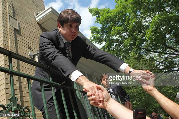 Former Illinois Gov Rod Blagojevich returns home after being found guilty on 17 of 20 counts in his corruption trial Monday June 27 2011 in Chicago...