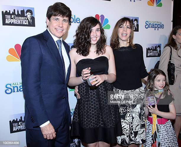 Former Illinois Governor Rod Blagojevich and family attend 'The Celebrity Apprentice' Season 3 finale after party at the Trump SoHo on May 23 2010 in...