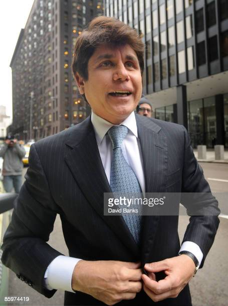 Former Illinois Governor Rod Blagojevich arrives at the Dirksen Federal building for his arraignment on corruption charges April 14 2009 in Chicago...