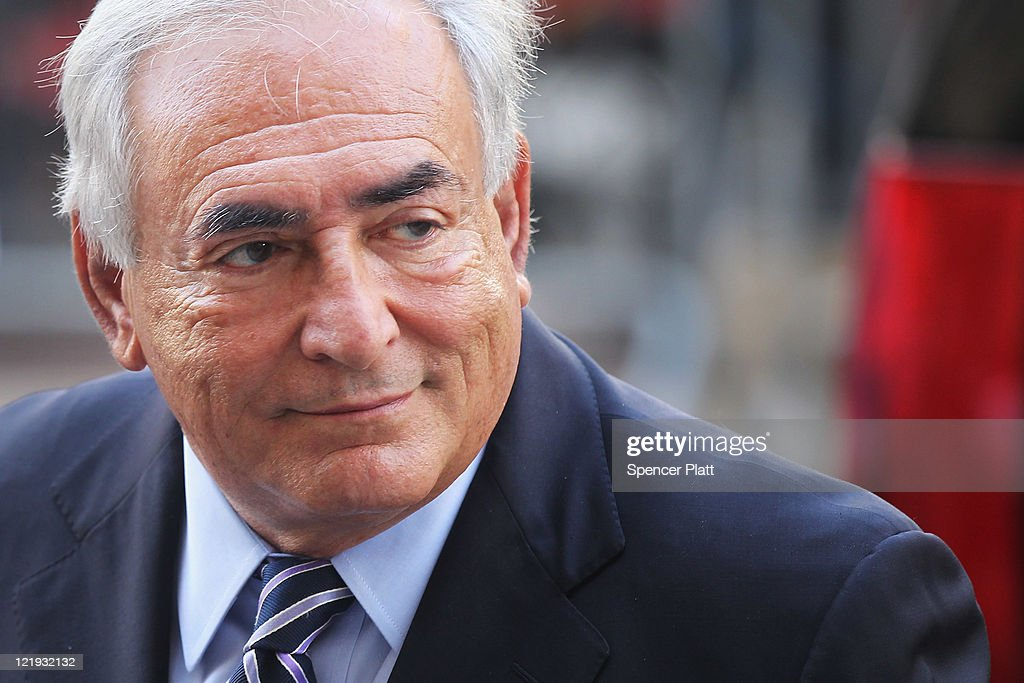 Former IMF director <a gi-track='captionPersonalityLinkClicked' href=/galleries/search?phrase=Dominique+Strauss-Kahn&family=editorial&specificpeople=227268 ng-click='$event.stopPropagation()'>Dominique Strauss-Kahn</a> enters a Manhattan court on August 23, 2011 in New York City. The Manhattan District Attorney's office has filed a motion to dismiss the charges against Strauss-Kahn by Nafissatou Diallo, the hotel maid who accused Strauss-Kahn of sexual assault.