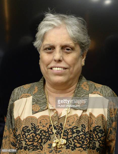 Former India women cricket captain Diana Edulji poses for the media in Mumbai on January 31 2017 India's Supreme Court appointed a top anticorruption...