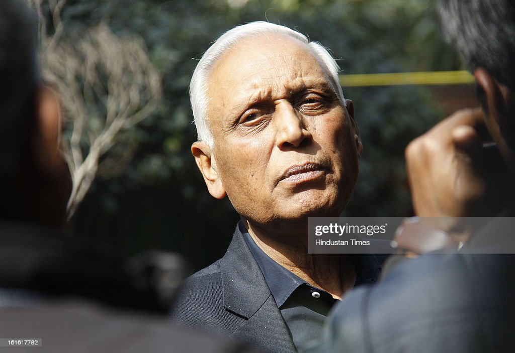 Former Indian Air Force chief Air Marshal SP Tyagi at his home in Sector 23 A on February 13, 2013 in Gurgaon, India. SP Tyagi was IAF chief from 2004 to 2007 and allegations are raised that the Italian company had bribed him to swing the VVIP chopper deal in its favour. Another scam unfolded with the arrest of the head of a state-controlled Italian aerospace company Finmeccanica that is suspected of paying bribes of about Rs 362 crore in India to get orders for helicopters to ferry Indian VVIPs, prompting the government to order a CBI probe.