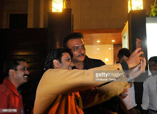 Former Indian cricketer Ravi Shastri during a party organized by Cricketer Virat Kohli as he bought a new bungalow on Monday Night on November 30...