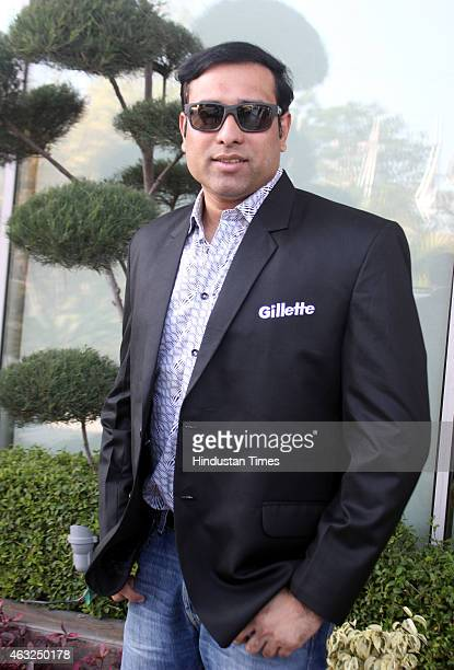 Former Indian cricketer VVS Laxman visited Indore to participate in an event on February 12 2015 in Indore India