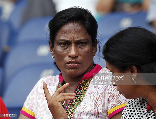 Former Indian track and field athlete PT Usha during the 79th Railways Track n Field event at Jawahar Lal Nehru Stadium on August 5 2013 in New Delhi...