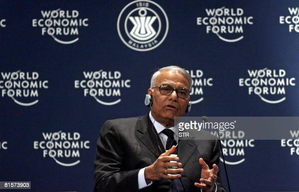 Former Indian's Minister of Finance Yashwant Sinha speaks during the World Economic Forum on East Asia in Kuala Lumpur on June 15 2008 The 17th World...