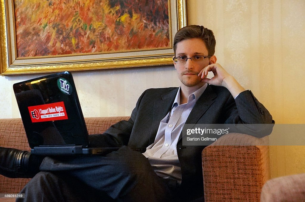 (EXCLUSIVE ACCESS; PREMIUM RATES (3X) APPLY) Former intelligence contractor Edward Snowden poses for a photo during an interview in an undisclosed location in December 2013 in Moscow, Russia. Snowden who exposed extensive details of global electronic surveillance by the National Security Agency has been in Moscow since June 2012 after getting temporary asylum in order to evade prosecution by authorities in the U.S.