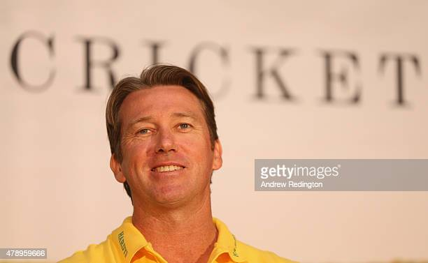 Former international cricketer Glenn McGrath is pictured during a photocall at the Honourable Artillery Company on June 29 2015 in London England