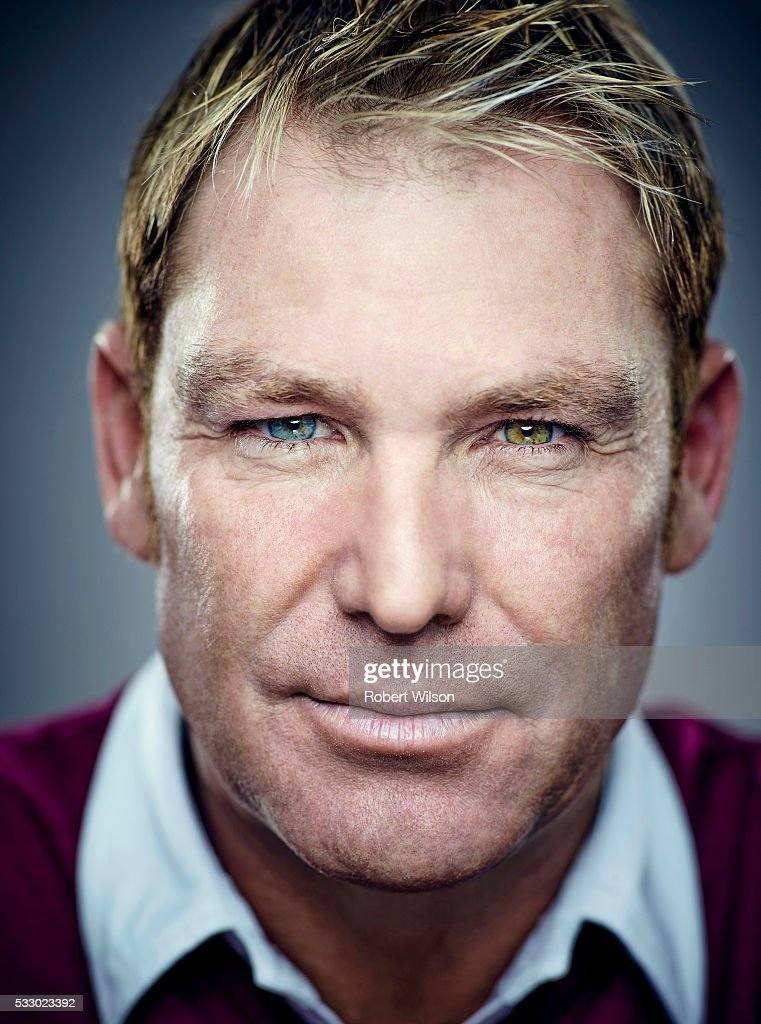 Former international cricketer Shane Warne is photographed for the Times on May 28, 2015 in London, England.