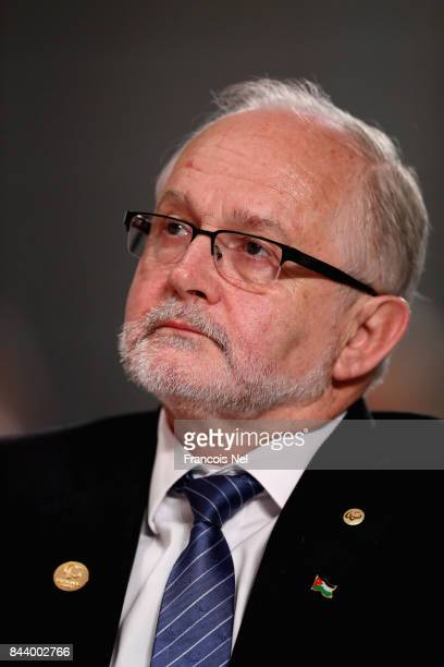 Former International Paralympic Committee President Sir Philip Craven attends the IPC General Assembly and Conference 2017 at Abu Dhabi National...