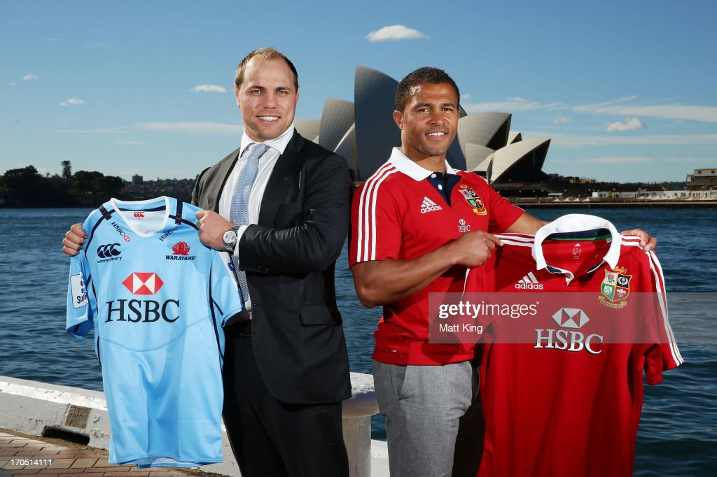 Former internationals Phil Waugh (L) and Jason Robinson (R) attend the HSBC Sydney Long Lunch Media Session at Museum of Contemporary Art on June 14, 2013 in Sydney, Australia.