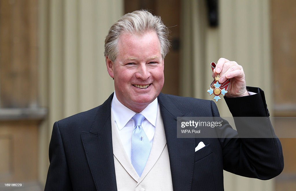Former Ipswich Town chairman David Sheepshanks at Buckingham Palace with his CBE after the investiture ceremony on May 21, 2013 in London, England.