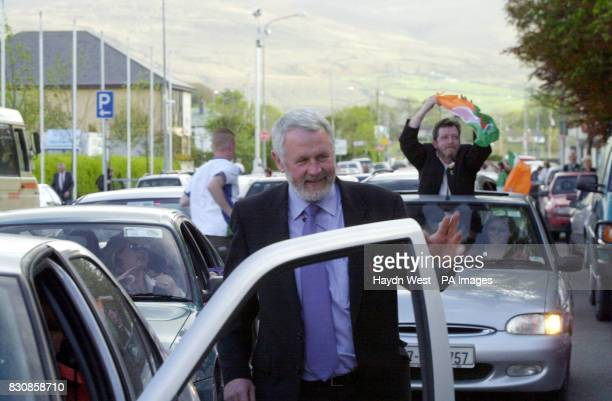 Former IRA gunrunner and andidate for North Kerry for Sinn Fein Martin Ferris leaving the counting station at the Brandon Hotel in Tralee in Kerry...