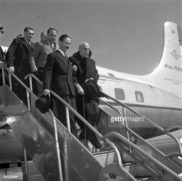 Former Iranian Prime Minister Mohammad Mossadegh steps off a plane in August 1953 Mossadegh was removed from power on August 19 in a coup d'état...