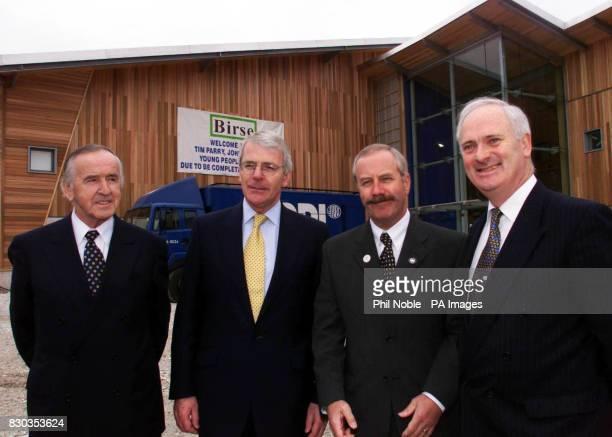 Former Irish premier Albert Reynolds former British Prime Minister John Major Colin Parry father of Warrington Bomb victim Tim Parry and former Irish...