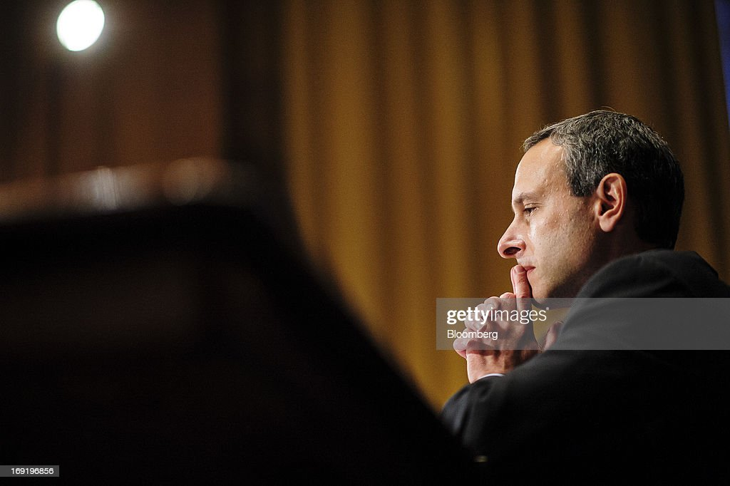 Former IRS Commissioner Douglas Shulman testifies before a Senate Finance Committee hearing on Capitol Hill in Washington District of Columbia US on...