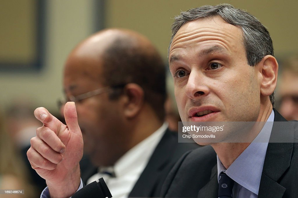 Former IRS Commissioner Douglas Shulman testifies before the House Oversight and Government Reform Committee May 22 2013 in Washington DC The...