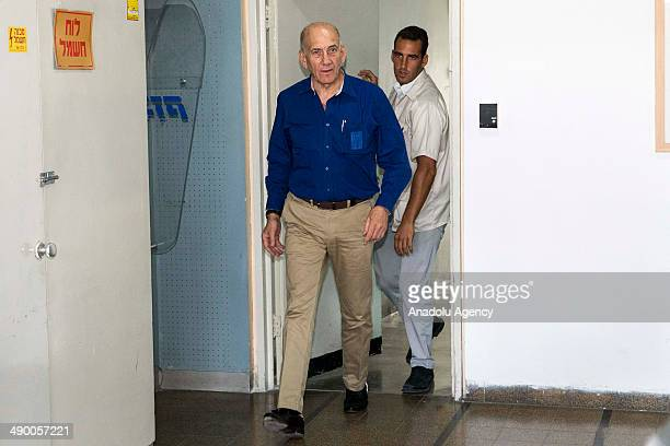 Former Israel prime minister Ehud Olmert is sentenced to 6 years accusation of corruption in Tel Aviv Israel on 13 May 2014 He is also fined 1...