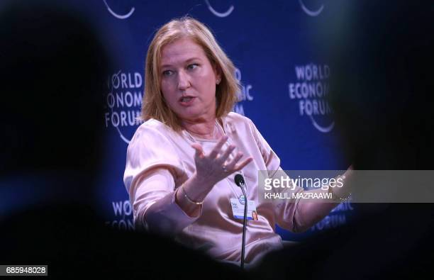 Former Israeli foreign minister Tzipi Livni attends the World Economic Forum held in the Dead Sea resort of Shuneh west of the Jordanian capital...