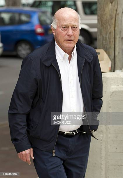 Former Israeli national team's coach Dror Kashtan arrives to attend the funeral of football icon and former Liverpool player Avi Cohen as hundreds of...