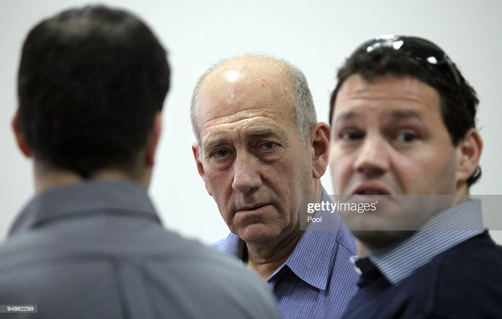 Ehud Olmert Arrives In Court To Face Charges Of Corruption