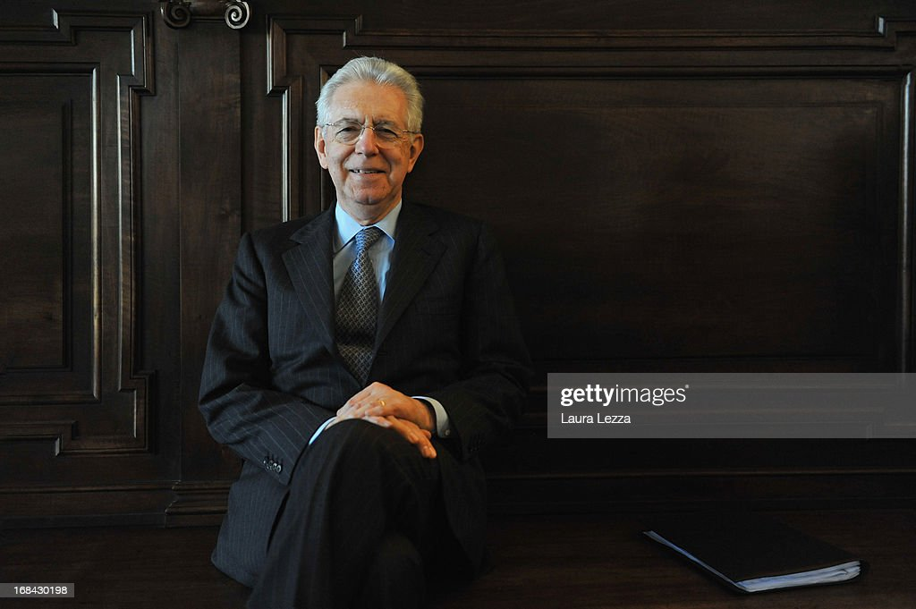 Former Italian First Minister and Member of the Italian senate of the new Italian Government Mario Monti pose for a photograph after The State of Union conference on May 9, 2013 in Florence, Italy. Academic, business and political leaders are taking part in the annual conference which lasts through May 10th, debating various EU policies and institutions.