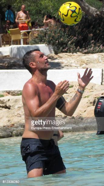 Former Italian footballer Paolo Maldini is seen on July 10 2017 in Ibiza Spain