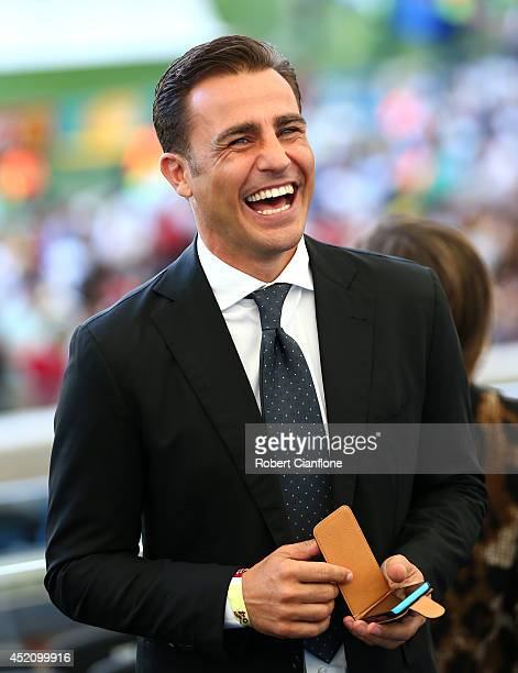 Former Italian international Fabio Cannavaro looks on prior to the 2014 FIFA World Cup Brazil Final match between Germany and Argentina at Maracana...