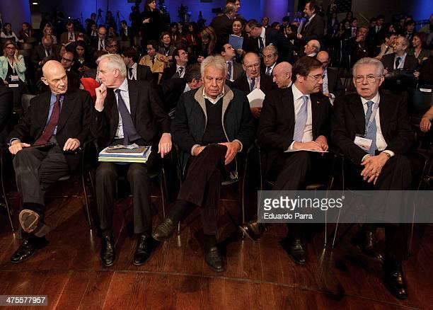 Former Italian Prime Minister Mario Monti Prime Minister of Portugal Pedro Manuel Mamede Passos Coelho Former President of the Spanish Government...