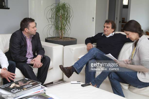 Former Italy player and manager Marco Tardelli is interviewed at home by Matt Barlow with interpreter Manuela Spinelli Cernobbio