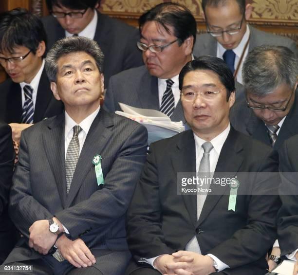 Former Japanese Education Ministry bureaucrat Kazuo Shimanuki and Kihei Maekawa who recently resigned as the ministry's administrative vice minister...
