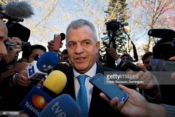 Former Japanese national team manager Javier Aguirre arrives at court in the City of Justice on March 27 2015 in Valencia Spain Javier Aguirre from...