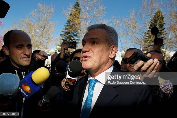 Former Japanese national team manager Javier Aguirre arrives at court at the City of Justice on March 27 2015 in Valencia Spain Javier Aguirre from...