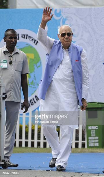 Former JK Chief Minister and National Conference leader Farooq Abdullah during the oath taking ceremony of Mamata Banerjee as Chief Minister of West...
