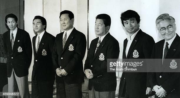 Former jockey Kunihiko Take rakugo storyteller Edoya Koneko former baseball player Eiji Bando tv presenter Kazuo Tokumitsu author Wahei Tatematsu and...