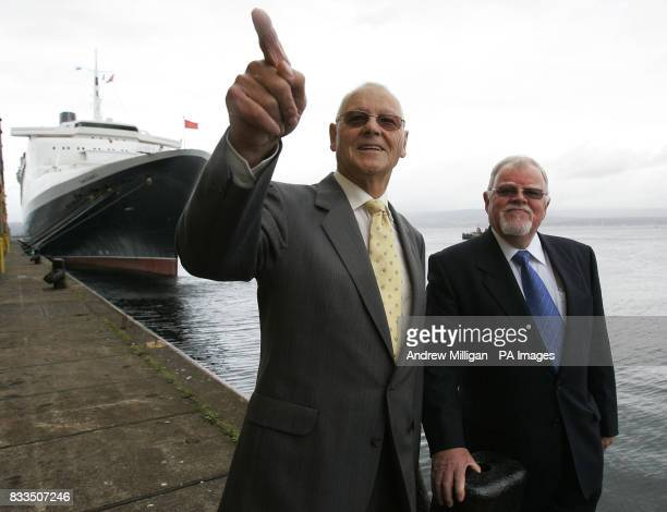 Former John Brown shipyard workers who helped build the QE2 Hector MacLean an engineer and Jim McGowan an electrician chat about the old times as...