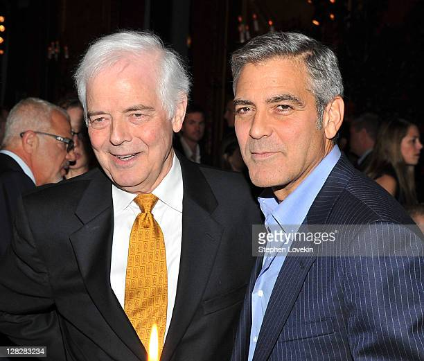 Former journalist/TV personality Nick Clooney and son actor George Clooney attend the after party for the premiere of 'The Ides of March' at the...