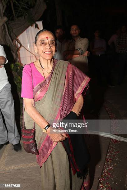Former Judge Leila Seth at party hosted by poet Sanil Sachar on launch of his first book Summer Promises and Other Poems on April 12 2013 in New...