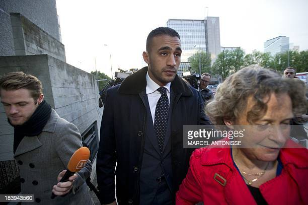 Former K1 heavyweight kickboxing champion Badr Hari who faces nine criminal charges eight crimes of violence and one moving violation arrives at the...