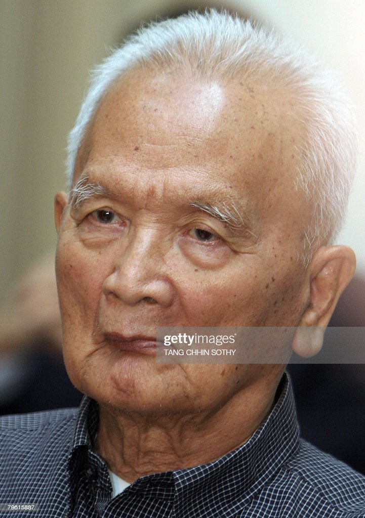 Former Khmer Rouge leader <a gi-track='captionPersonalityLinkClicked' href=/galleries/search?phrase=Nuon+Chea&family=editorial&specificpeople=767256 ng-click='$event.stopPropagation()'>Nuon Chea</a> appears for his first public court hearing at the Extraordinary Chambers in the Court of Cambodia (ECCC) in Phnom Penh on February 7, 2008. <a gi-track='captionPersonalityLinkClicked' href=/galleries/search?phrase=Nuon+Chea&family=editorial&specificpeople=767256 ng-click='$event.stopPropagation()'>Nuon Chea</a> is to appeal against his detention by Cambodia's genocide tribunal, insisting there is not enough evidence to keep him behind bars pending trial. Up to two million people died of starvation and overwork, or were executed by the Khmer Rouge, which dismantled modern Cambodian society in its effort to forge a radical agrarian utopia.
