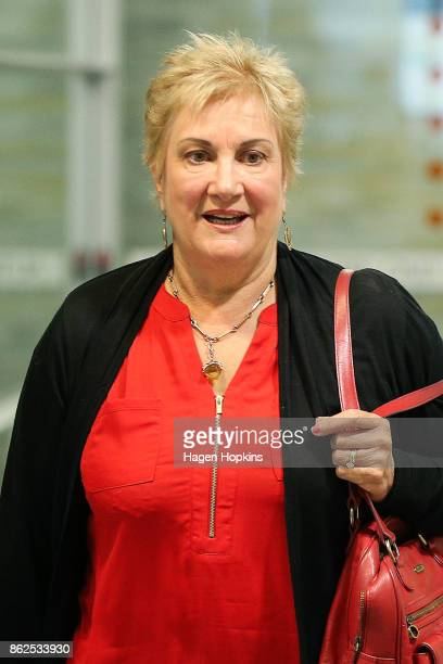 Former Labour deputy leader Annette King looks on as coalition discussions continue at Parliament on October 18 2017 in Wellington New Zealand...