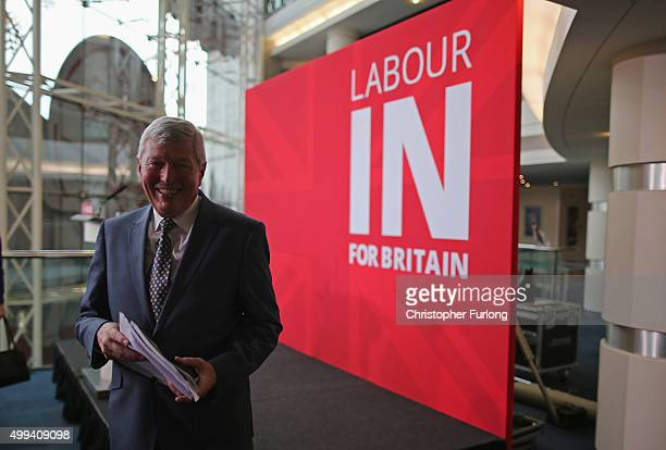 Former Labour Home Secretary Alan Johnson leaves after launching the 'Labour In For Britain' Campaign at the International Convention Centre on...